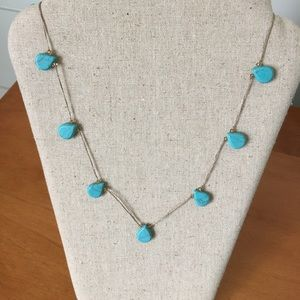 Stella Dot Threaded Turquoise Necklace